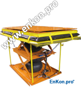 v0727_lsa08_enkon_double_pneumatic_scissor_lift_table